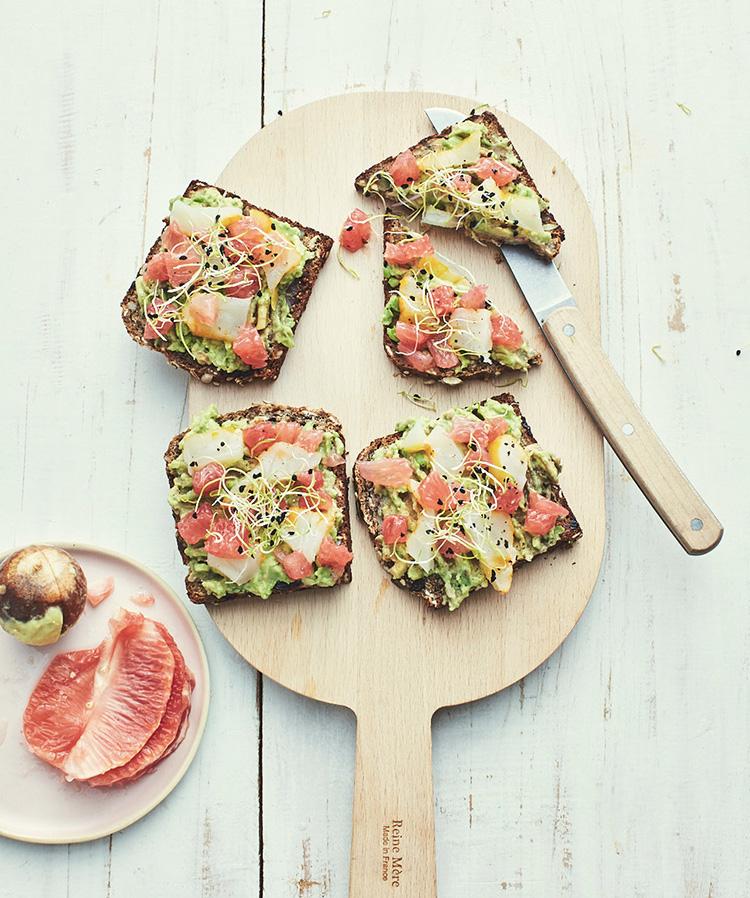 Photo tartinade avocado toast