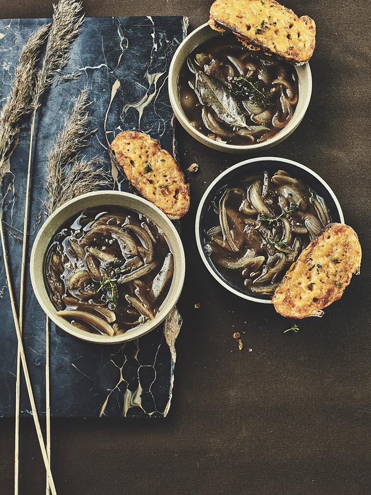 photo variations soupe oignon